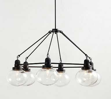 Paloma Glass And Wood Chandelier, Wood/Bronze - Pottery Barn