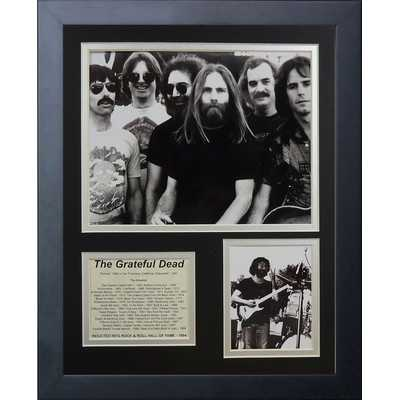 15x12 'Grateful Dead' Framed Memorabilia - Wayfair