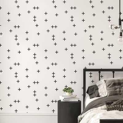 Little Arrow Design Co Cross Matte Peel and Stick Wallpaper Panel - AllModern