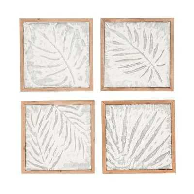 Goodfellow 4 Piece Wood Leaf Wall Decor Set - Birch Lane