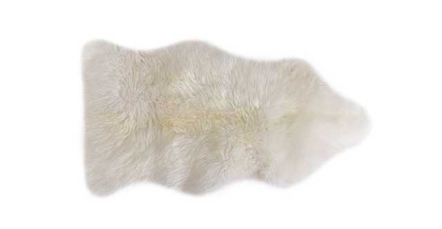 Lanna Ivory Sheepskin Throw 2 x 3 - Article