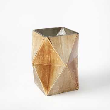 Prism Mecury Vase, Medium, Gold - West Elm
