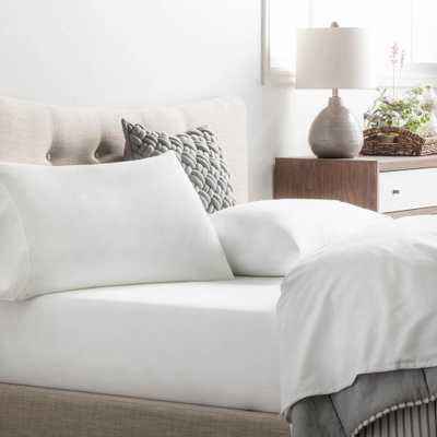 4-Piece White Microfiber Queen Sheet Set - Home Depot