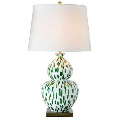 Port 68 Mill Reef Palm Double Gourd Porcelain Table Lamp - Style # 64W64 - Lamps Plus