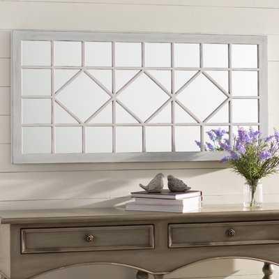 Rectangular Ivory Accent Wall Mirror - Wayfair