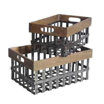 2 Piece Basket Set - Wayfair
