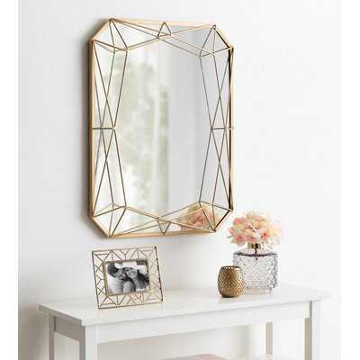 Winfred Modern Glam Geometric Shaped Metal Accent Wall Mirror, Gold - Wayfair
