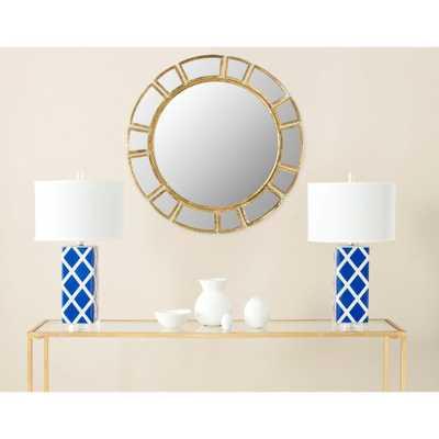 Deco Sunburst 30 in. x 30 in. Iron Framed Mirror - Home Depot