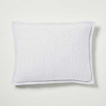 Cotton Jersey Cloud Standard Sham, Light Heather Gray - West Elm