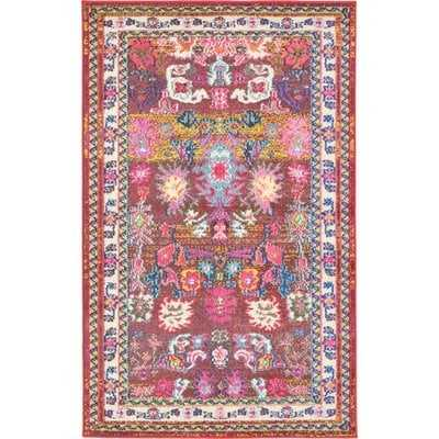 Iris Pink Area Rug - Wayfair