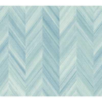 Ashford Geometrics Gradient Chevron Wallpaper, Variations Of Blue - Home Depot