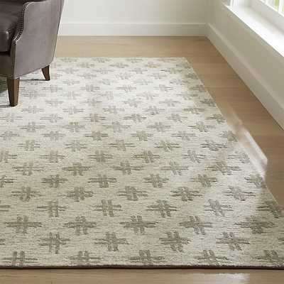 Corteal Silver Grey Rug 6x9 - Crate and Barrel