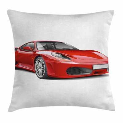 Teen Room Decor Italian Car Square Pillow Cover - Wayfair