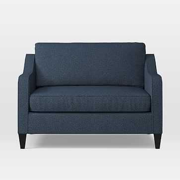Paidge Chair And A Half Twin Sleeper, Chenille Tweed, Nightshade - West Elm