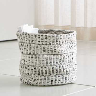 Mohave Medium Heather Embroidered Basket - Crate and Barrel