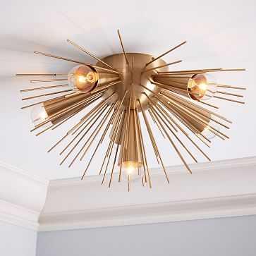 Sputnik Flushmount, Bronze/Brass - West Elm