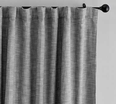 "Seaton Textured Blackout Curtain, 108"", Gray - Pottery Barn"
