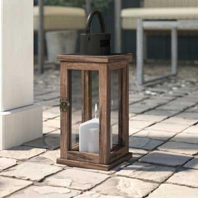 Wood/Glass Lantern - Birch Lane