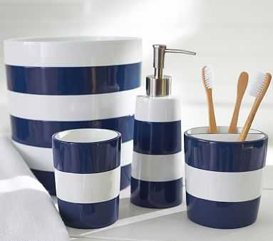 Navy Stripe Soap Dispenser - Pottery Barn Kids
