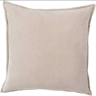 Cotton Velvet Pillow 22x22 with Poly Insert - Neva Home