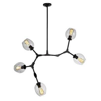 ARTCRAFT 5-Light Black Chandelier - Home Depot