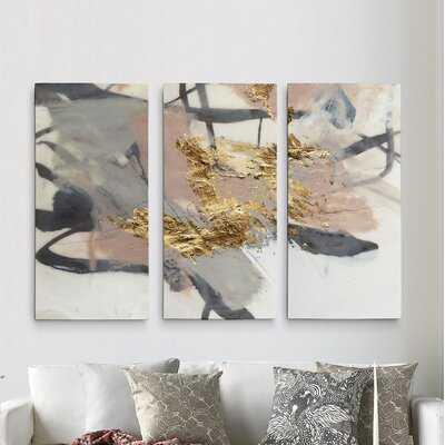 A Premium 'Golden Blush II' Print Multi-Piece Image on Canvas - Wayfair