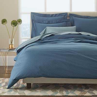 Legends Luxury Mirage Blue Supima Sateen Full Duvet Cover - Home Depot