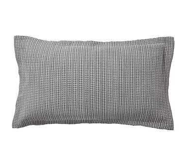Honeycomb Sham, King, Gray - Pottery Barn