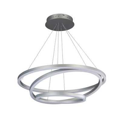 VONN Lighting Tania 105-Watt Integrated LED Silver Chandelier - Home Depot