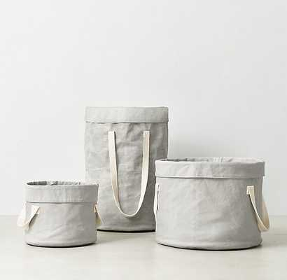 Distressed Canvas Tote - Large, Grey - RH Baby & Child