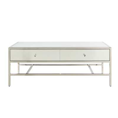 Acme Furniture Weigela Mirrored and Chrome Coffee Table - Home Depot