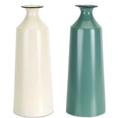 "Stowe Vase (Set of 2) 12""H Iron - Wayfair"