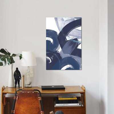'Blue on Blue II' Print on Canvas - Wayfair