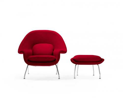 Womb Chair And Ottoman - Red - Rove Concepts