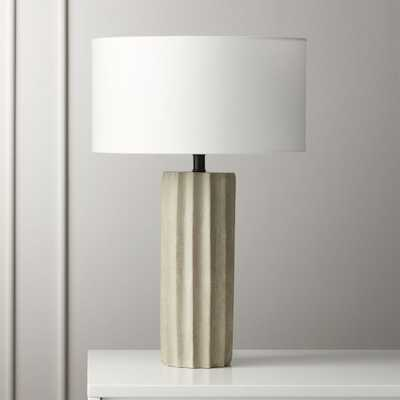 Scallop Concrete Table Lamp - CB2