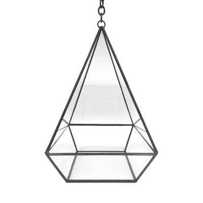 Geometric 5 in. x 8 in. Glass Pyramid Terrarium - Home Depot
