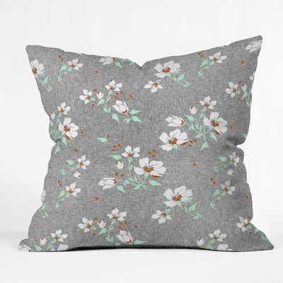 Holli Zollinger Floral Mint Throw Pillow - Wayfair