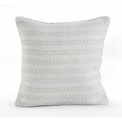 Silver Lining Gray / White (Gray/White) 18 in. x 18 in. Throw Pillow - Home Depot