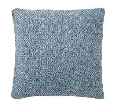 "Washed Diamond Pillow Cover, 20"", Blue Dusk - Pottery Barn"