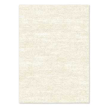 SPO Watercolor Solid Rug, Ivory, 10'x14' - West Elm