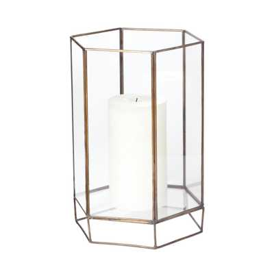 11 in. Glass Oriel Hurricane Candle Holder, Clear - Home Depot