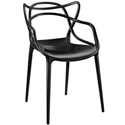Entangled Black Dining Arm Chair - Home Depot