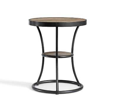 Bartlett Metal & Reclaimed Wood End Table - Pottery Barn