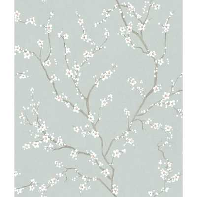York Wallcoverings Blue Cherry Blossom Peel and Stick Wallpaper - Home Depot