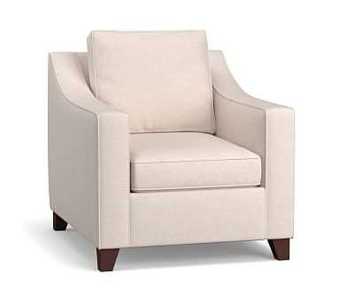 Cameron Slope Arm Upholstered Deep Seat Armchair, Polyester Wrapped Cushions, Sunbrella(R) Performance Chenille Salt - Pottery Barn
