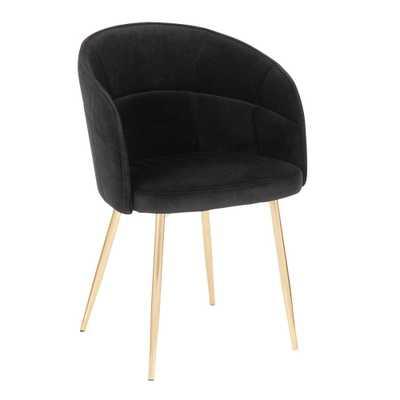 Lumisource Lindsey Black Velvet Dining Chair - Home Depot
