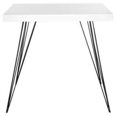 Wolcott White and Black Dining Table, White/Black - Home Depot