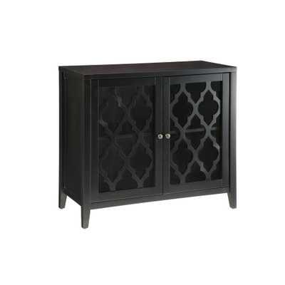 Ceara Black Cabinet - Home Depot