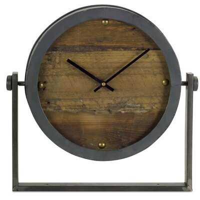 "Tieton Clock 15.5""H Metal/Glass - Wayfair"