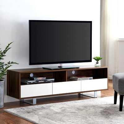 "Ehlers 60"" Modern 3-Drawer Low TV Console - Wayfair"